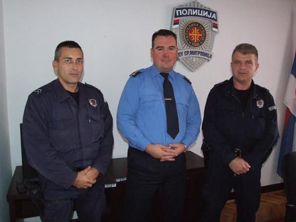 Aleksandar Stojanović, komandir Dejan Ćorić i Dragan Veselinović