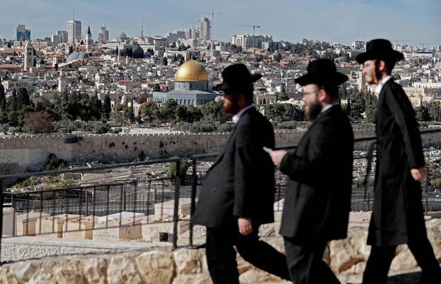 Ortodoksyjni Żydzi na Górze Oliwnej