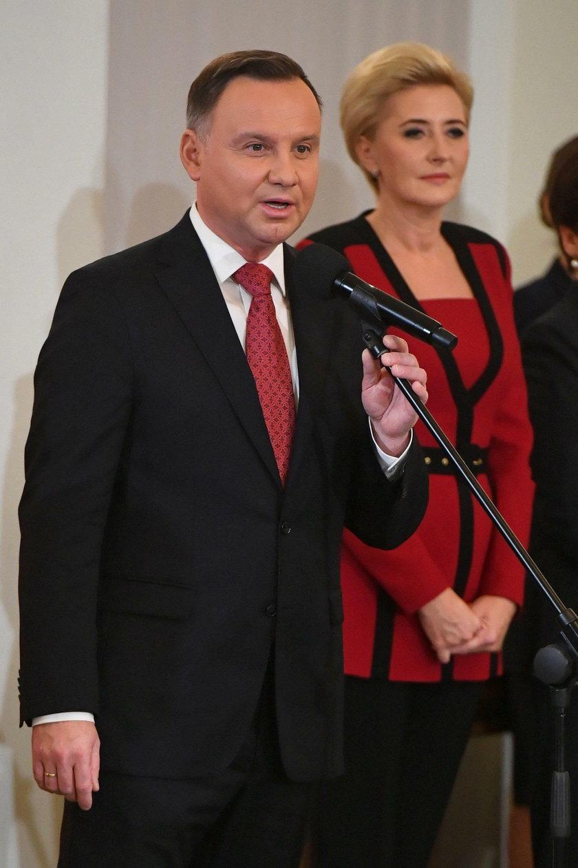 Agata Duda podczas uroczystości z okazji Święta Niepodległości