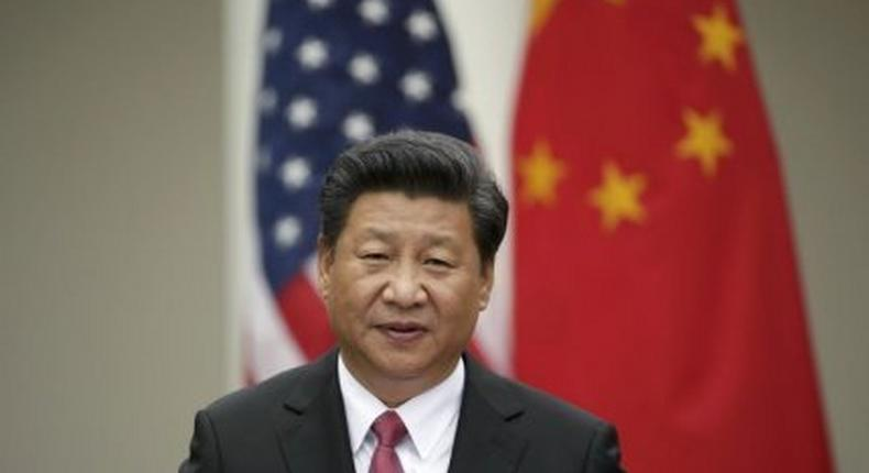 Chinese President Xi addresses joint news conference in the Rose Garden of the White House in Washington