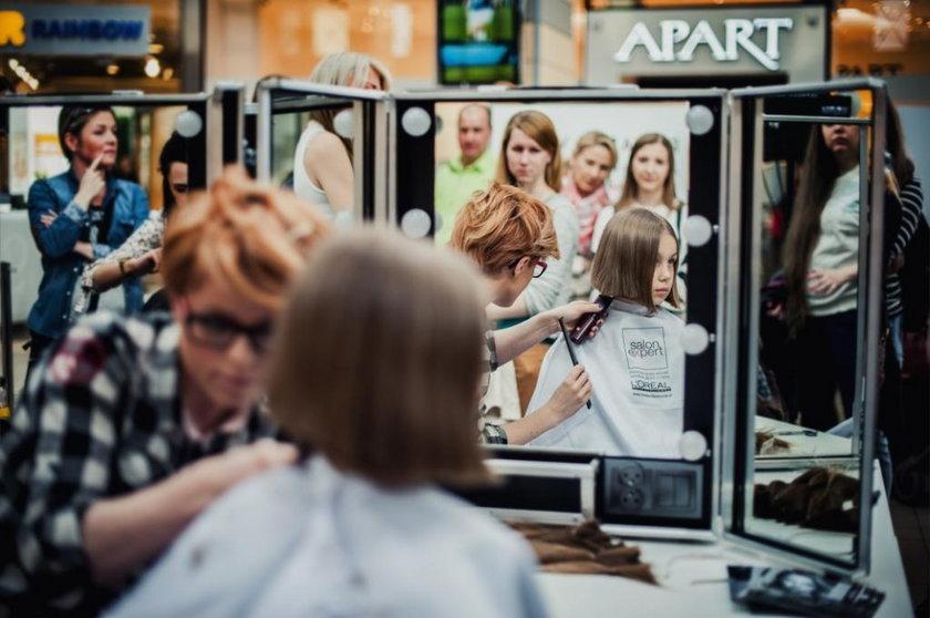 Katowice. Strzyżenie włosów dla ciężko chorych dzieci