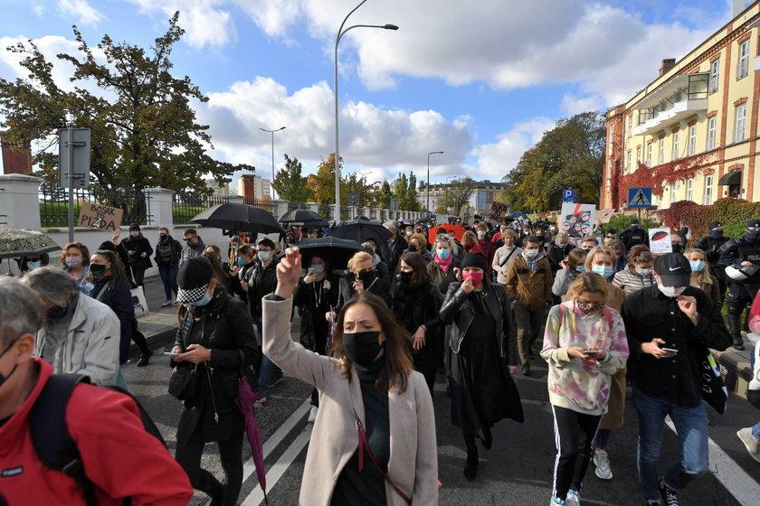 Protesty po orzeczeniu Trybunału Konstytucyjnego w sprawie aborcji