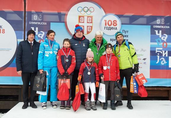 Božidar Maljković, predsednik OKS, sa pobednicima