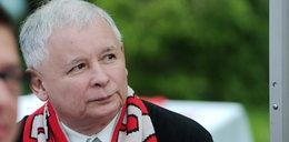 Kaczyński wzruszył się podczas meczu, bo Tytoń...