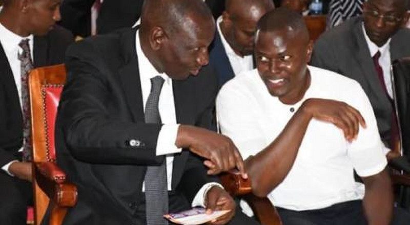 Ndindi Nyoro stirs Twitter after posting these photos of DP Ruto [Photos]