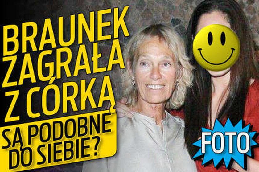 Braunek zagrała z córką. Są podobne do siebie? FOTO