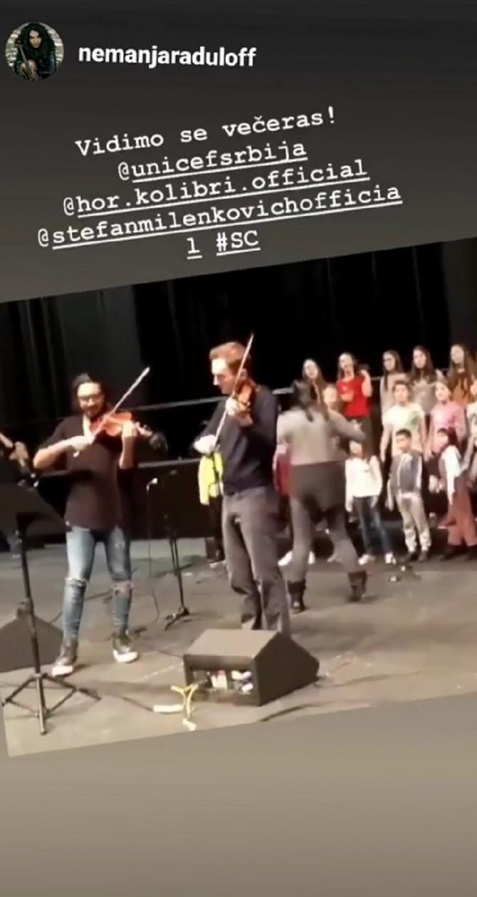 Nemanja i Stefan na probi