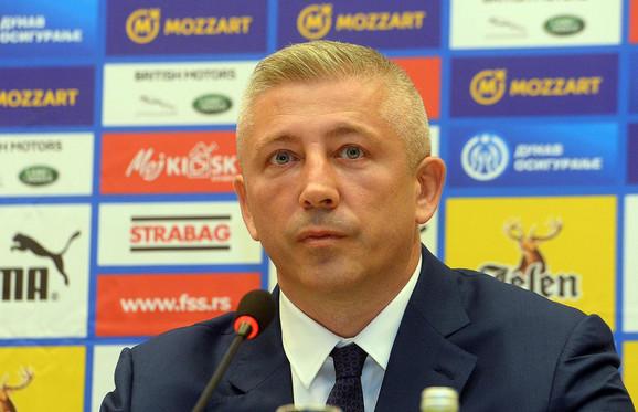 Slaviša Kokeza, predsednik Fudbalskog saveza Srbije
