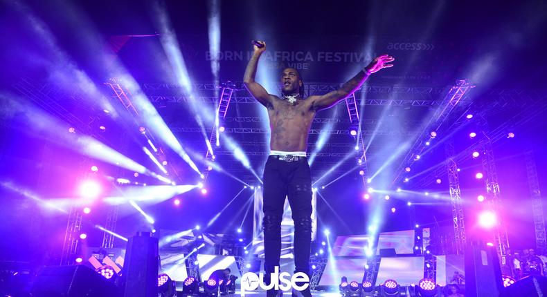 Burna Boy performing at Born In Africa Festival 2018