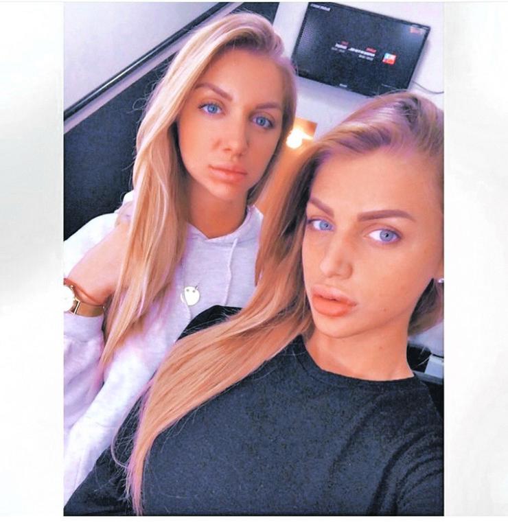 Milica Kemez i njena sestra Mirela