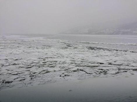 Led na Dunavu kod Đerdapa