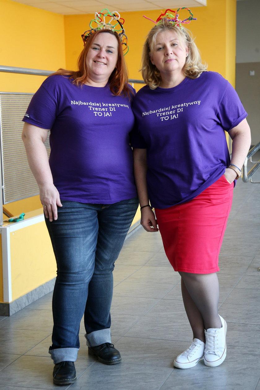 Anna Kuch oraz Marzena Tryznowska, nauczycielki które przygotowują dzieci do Olimpiady.