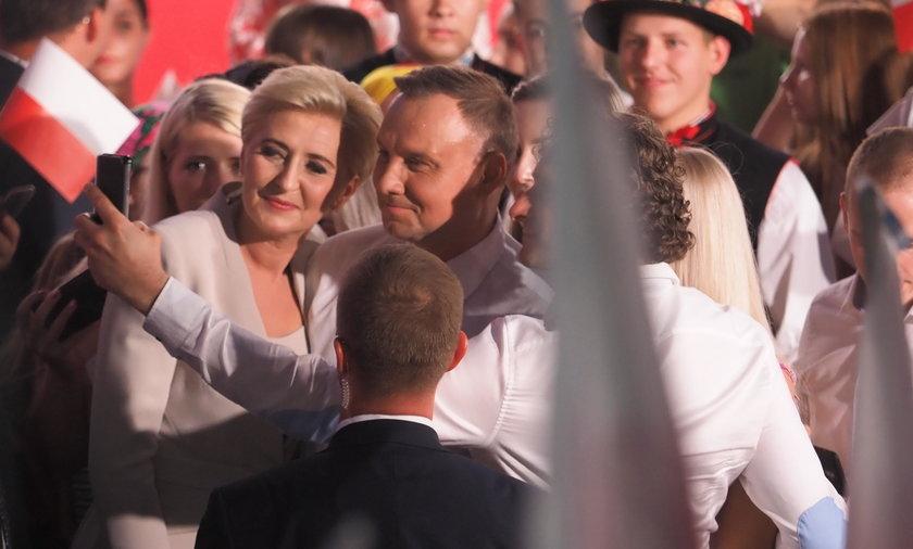 Para prezydencka wieczór wyborczy spędziła w Łowiczu