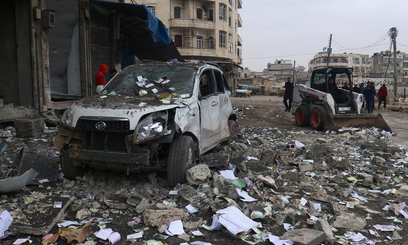 Nalot Amerykanów na Idlib