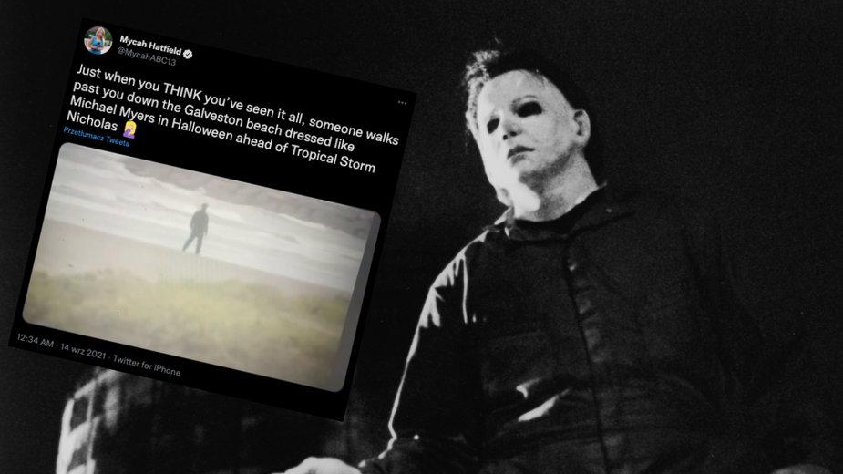 """Michael Myers to fikcyjna postać z serii filmów """"Halloween"""" (fot. Twitter.com/MycahABC13)"""