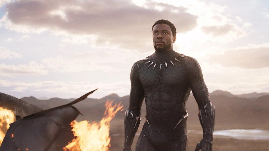 """""""Czarna Pantera"""": kadr z filmu. Chadwick Boseman w tytułowej roli"""