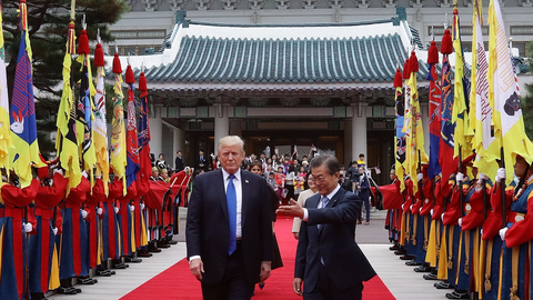 How Trump's visit to South Korea differed from those of Obama, Bush, and Clinton