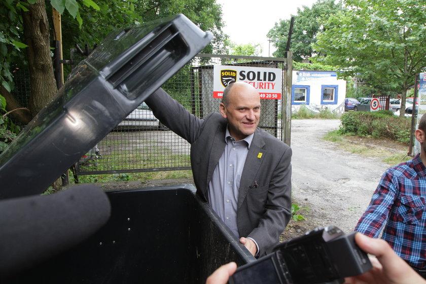 Wiceprezydent Radosław Stępień kontrolował wywóz śmieci
