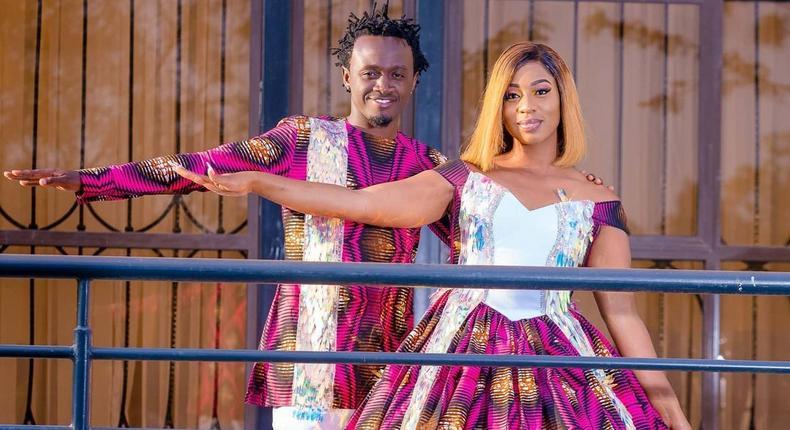 Bahati and his wife Diana Marua
