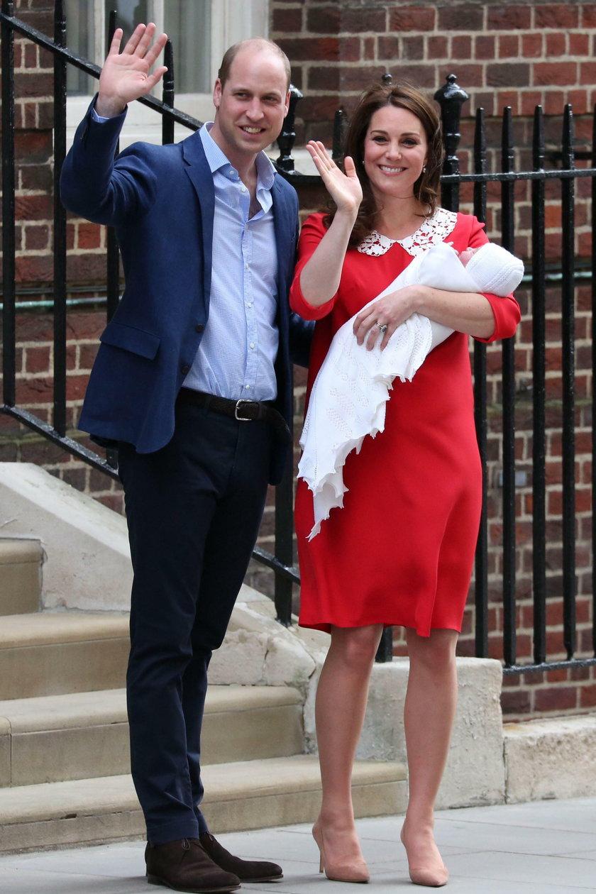 Książę William, księżna Kate i książęLouis