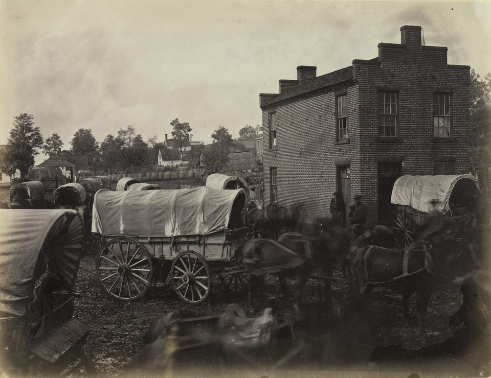 "Andrew Joseph Russell, ""Street Scene, Culpeper, Virginia, March 1864"""