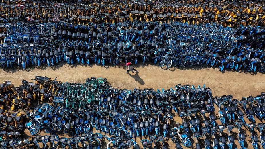 Cmentarzysko rowerów miejskich w Chinach. Klęska rewolucji transportowej?