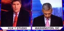 Dziennikarz zasnął na wizji?