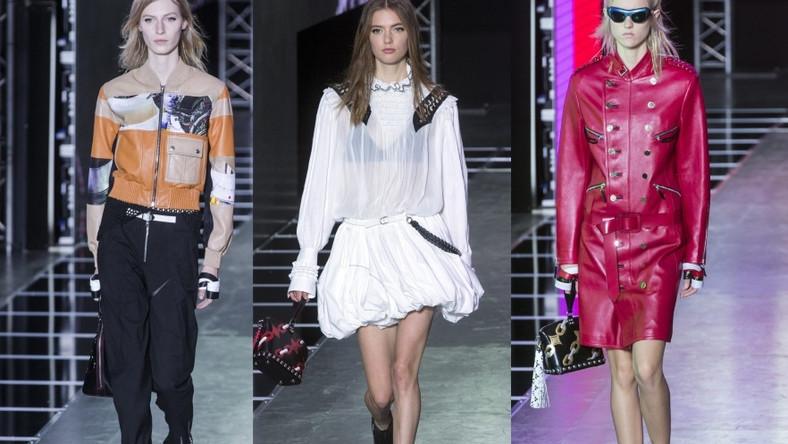 Pokaz projektów autorstwa Nicolasa Ghesquiere' a na paryskim tygodniu mody.