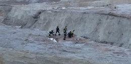 Groza w dawnej kopalni! Glina wciągnęła dwie osoby