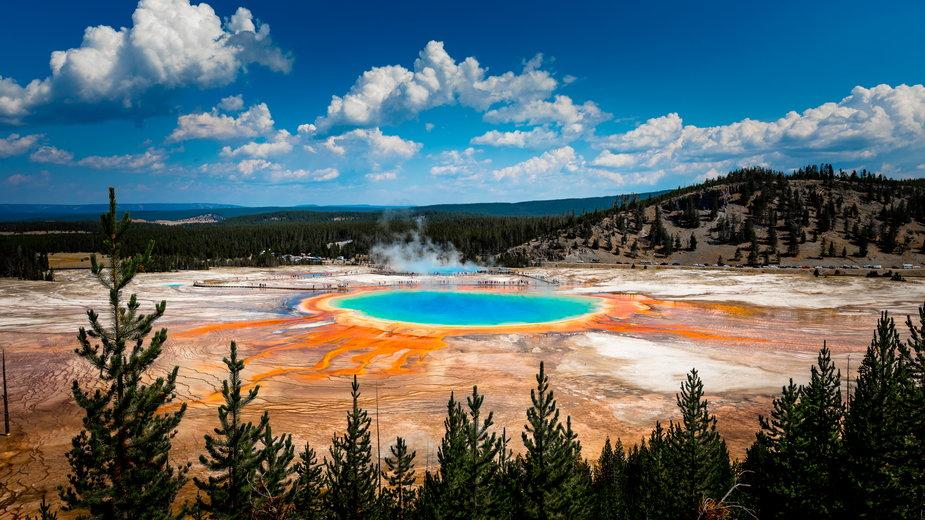 Rekordowy październik w Yellowstone