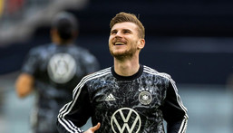 Timo Werner says competition is 'brutal' for places in Germany's starting line-up against France on Tuesday at Euro 2020 Creator: Odd ANDERSEN