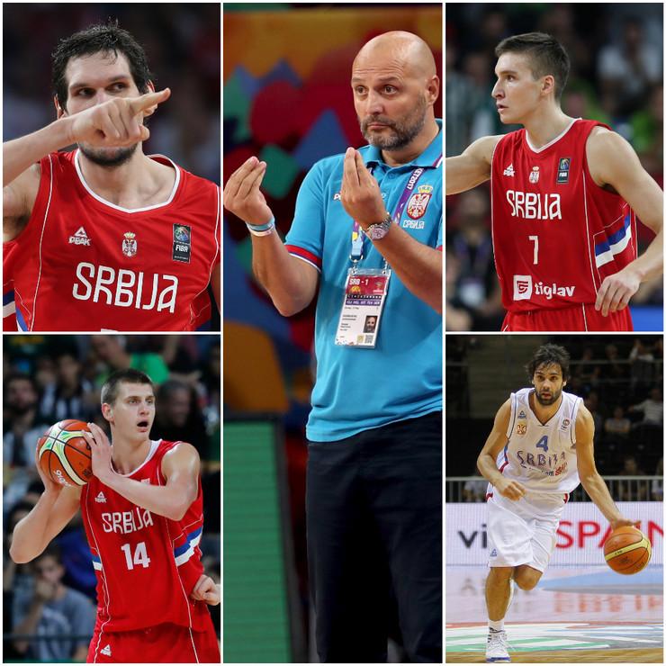 Boban Marjanović, Nikola Jokić, Aleksandar Đorđević, Bogdan Bogdanović i Miloš Teodosić