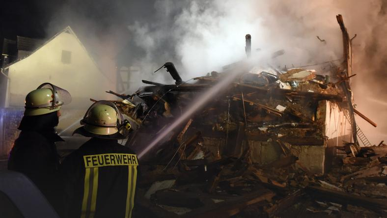 GERMANY FIRE  (Fire in a house in Gudensberg)