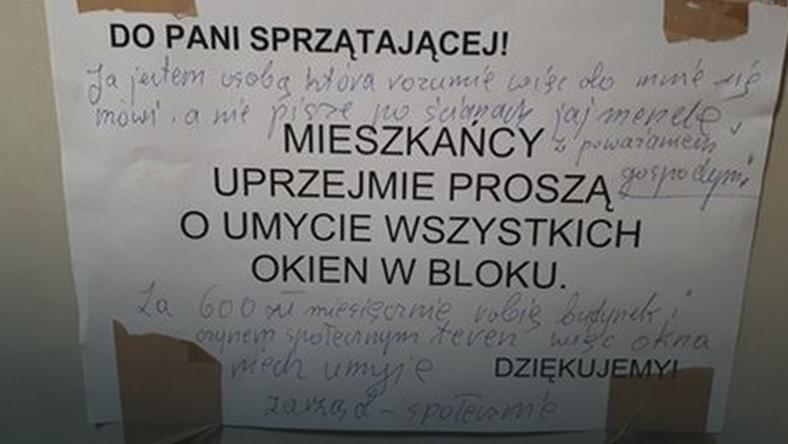 Pamiętacie ogłoszenie z jednego z bloków na warszawskim Mokotowie? Filip Chajzer umył im okna!
