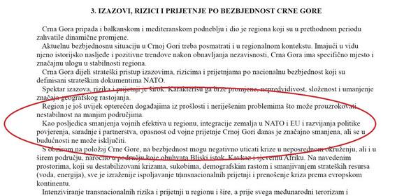 Nacionalna bezbednosna strategija Crne Gore