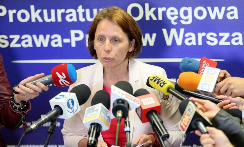 Rzeczniczka Prokuratury Okręgowej Warszawa-Praga Renata Mazur.