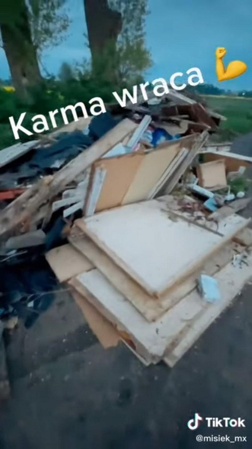Pozbył się śmieci w lesie. TikToker wymierzył mu sprawiedliwość