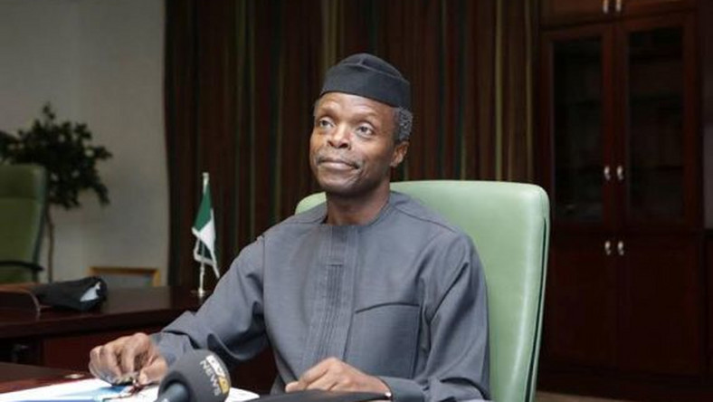 Vice President, Yemi Osinbajo spends first day in Aso Rock office