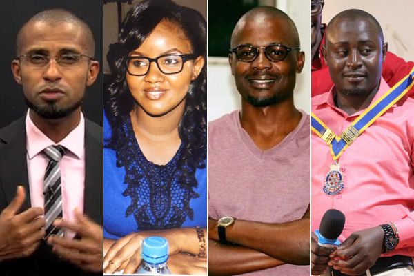 Journalists (from L to R) Harith Salim, Lillian Kiarie, Silas Apollo and Shaban Ulaya who have been fired from NTV