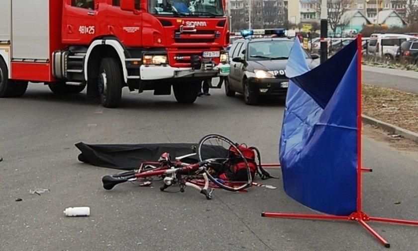 Przez bandziorów zginął rowerzysta.