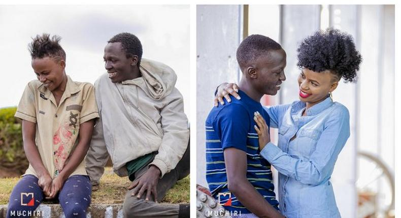 Sammy and Virginia Before and after the transformation. We can't feed them forever – Sarah Kabu speaks after KTN feature on famous street couple