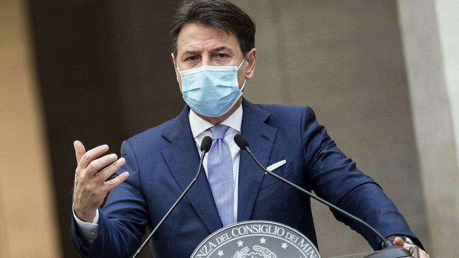 Koronawirus. Premier Włoch Giuseppe Conte na konferencji prasowej