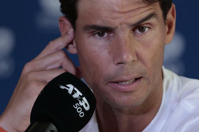 Rafael Nadal na konferenciji za medije u Akapulku