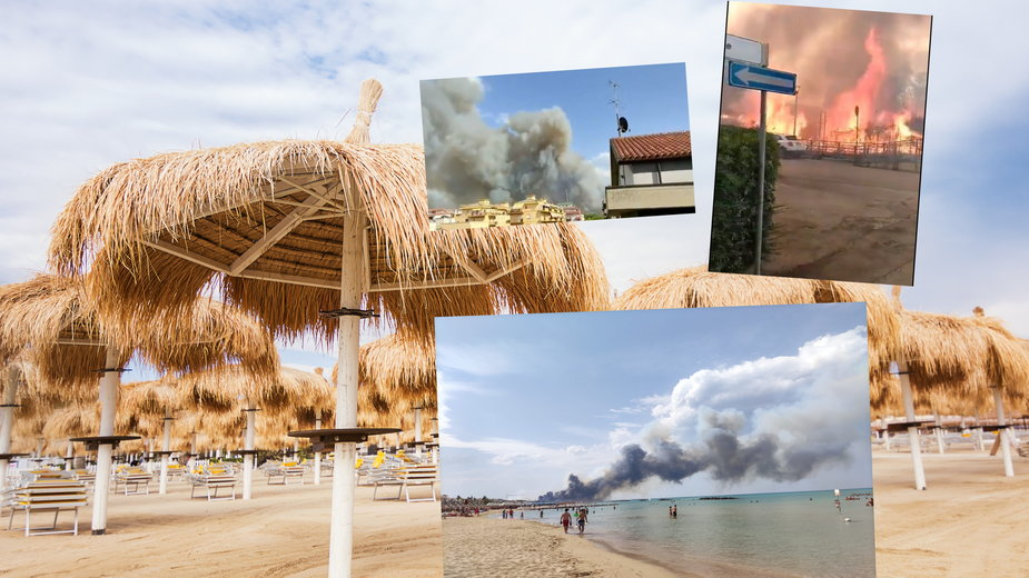 Duży pożar w mieście Pescara we Włoszech. Turyści uciekają z plaż [NAGRANIA]
