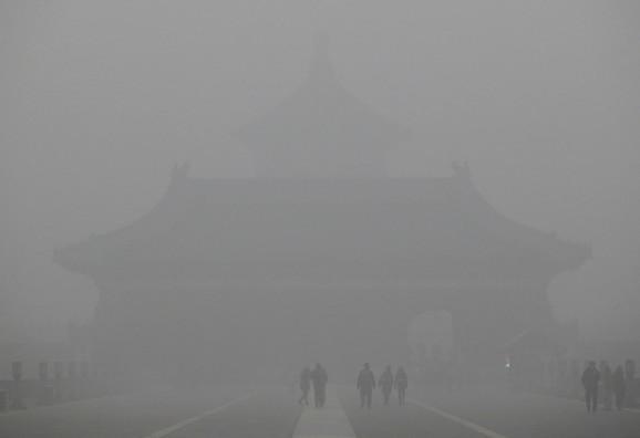 Peking je prekriven smogom