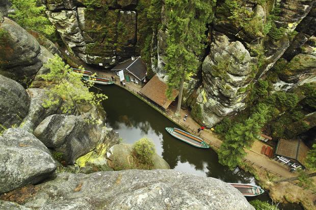 Spływ wąwozem rzeki Křinice