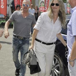 Dwa Brzegi 2016: Bogusław Linda z żoną w Kazimierzu Dolnym