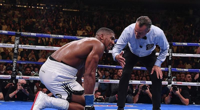 Anthony Joshua's 7th round knockout stuns Twitter Nigeria