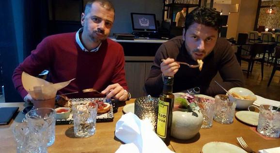 Mateja Kežman i Uroš Janković