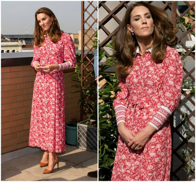 Kejt je blistala u cvetnoj haljini
